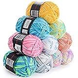 TACKTIMES 10 gruppi Filato per hobby creativi , di Filati per Uncinetto Multicolore (Tipo 2)