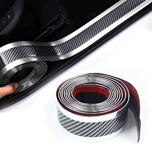 Auto Einstiegsleisten 5CMx300CM Carbon Türschwelle Lackschutzfolie Pedal Schützen Anti-Kick Scratch