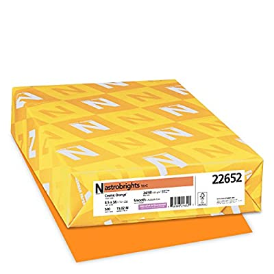 Neenah Astrobrights Premium Color Paper, 24 lb, 8.5 x 14 Inches, 500 Sheets