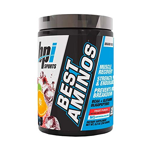 BPI Sports Best Aminos BCAA and Glutamine Supplement, Fruit Punch,...