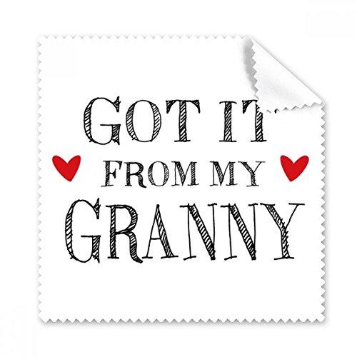 GoT IT von My Granny Grandchildren Oma Geschenk Gläser Tuch Reinigungstuch Handy-Display von 5x