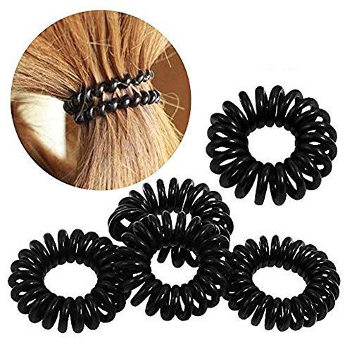 Asien - 50 Pcs Noir Ligne Téléphone Cheveux Anneau Bande Bracelet Corde Queue De Cheval Fil Titulaire