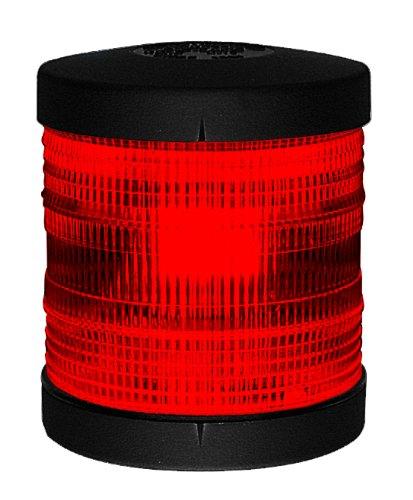 Aqua Signal Series 25 Feu de Navigation Tout Horizon Rouge Boîtier Noir
