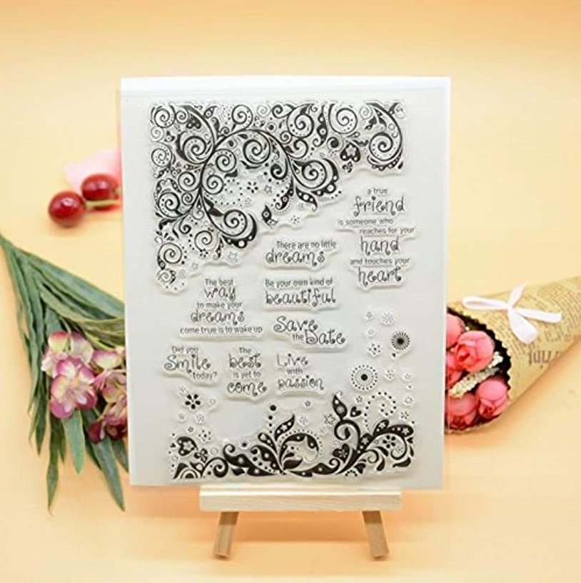 Welcome to Joyful Home 1pc Lace Frame Design Rubber Clear Stamp for Card Making Decoration and Scrapbooking