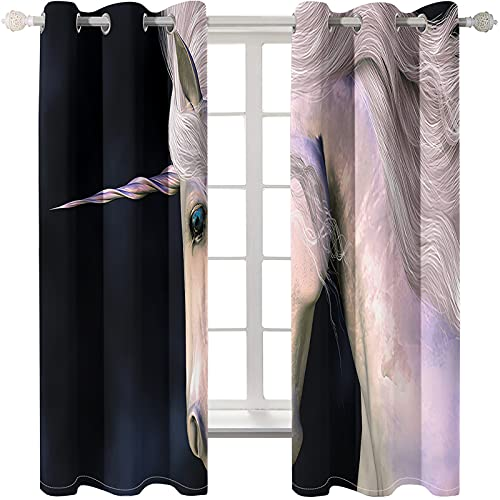 Cortina De Impresión Digital De Animales 3D Dormitorio Perforación Libre Instalación Fácil Cortina Opaca Aislamiento Térmico Protector Solar Ventana De Bahía