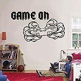 Adesivi murali 72x42 cm gioco su citazioni Controller wall sticker vinile home decor per bambini camera adolescenziale camera da letto camera giochi decalcomanie interni murali