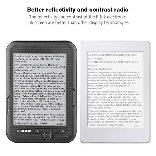 6 Pulgadas Lector de E-Book Portátil de Pantalla Electrónica de Tinta de Alta Resolución, con 29 Idiomas para Elegir, Mejor Reflectividad y Contraste con un Menor Consumo de Energía(Gris(4G)) miniatura