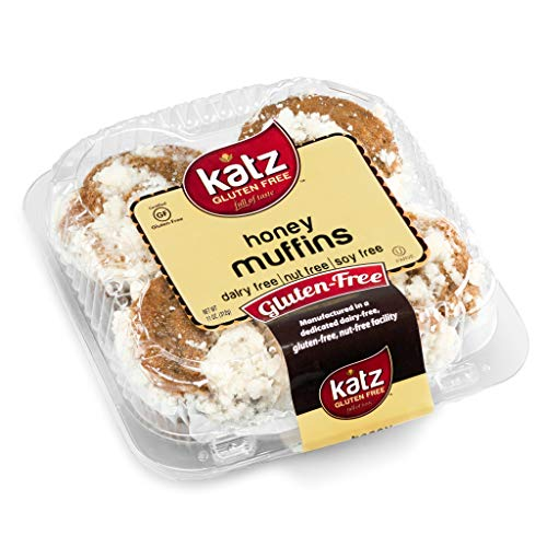 Katz Gluten Free Honey Muffins | Dairy, Nut, Soy and Gluten Free | Kosher (1 Pack of 4 Muffins, 11 Ounce)