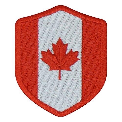FanShirts4u Aufnäher - Kanada - Wappen - 7 x 5,6cm - Bestickt Flagge Patch Badge Fahne Canada (rote Umrandung)