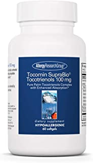 Allergy Research Group - Tocomin SupraBio Tocotrienols 100 mg - Palm Oil Vitamin E - 60 Softgels