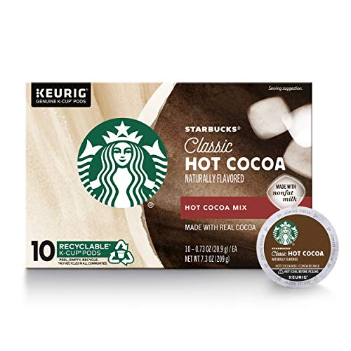 Starbucks Classic Hot Cocoa K-Cup for Keurig Brewers, 1 Box of 10 (10...