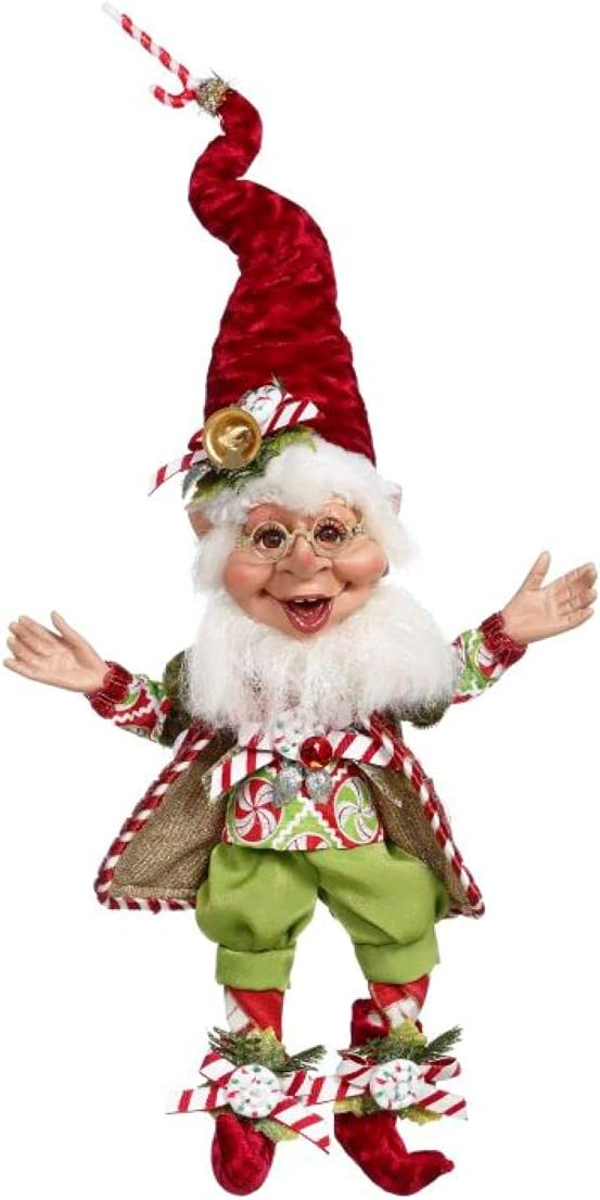 Mark Roberts Elves 51-16154 Candy Cane Elf Small 11 Inches