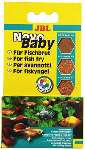 JBL NovoBaby 3x10ml - Kit de nourriture d'élevage pour alevins de poissons d'aquarium vivipares
