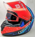 LS2 Helmets - FF320 Stream Evo - Bubble - Matt Black Orange - Dual Visor Full Face Helmet - (Large - 580 MM)