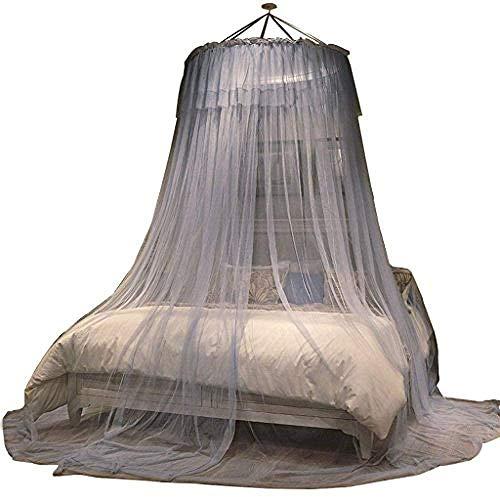 Kuppelförmiges Moskitonetz, Prinzessinnen-Design, rund, 1,5/1,8/2 m, Bettvorhang für Einzelbett, Doppelbett, 1.35m