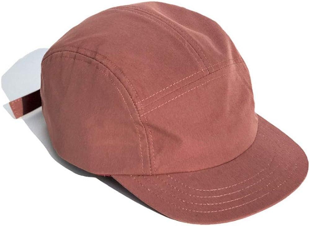 Croogo Short Brim 5 Panel Hat Flat Billed Sport Cap Anti Sweat Sunscreen Trucker Baseball Style Hat Outdoor Sun Cap