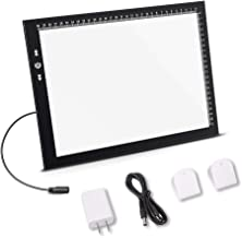 A4 Led Light Box Light Pad New Improved Structure Touch Dimmer 8W Super Bright Max 4500 Lux with Free Carry/Storage Bag 2 Years Warranty (A4 Light Pad)