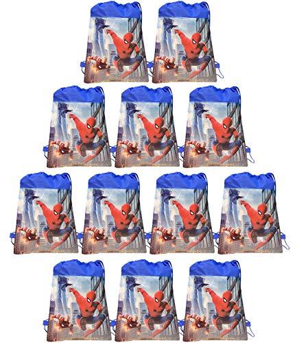 Qemsele 12pcs Kids Party Bags, Children Cartoon Reusable Drawstring...