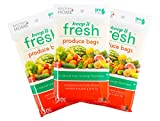 Keep it Fresh BPA Free Re-Usable Freshness Produce Bags - Set of 90 Gallon Size Bags (90)