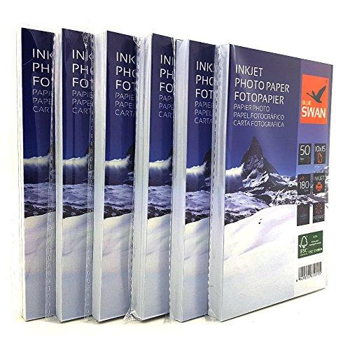 300 Blatt Fotopapier 10x15 cm 180g hochglanz wasserfest einseitig