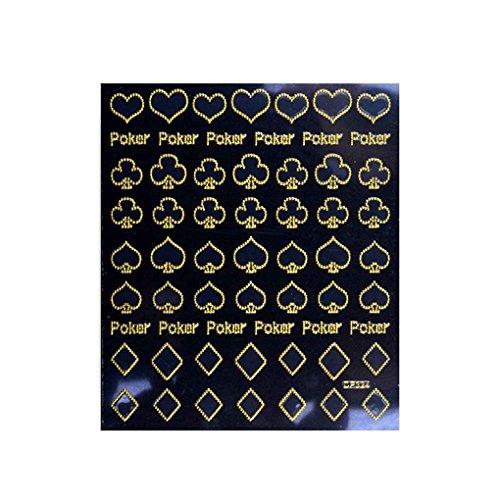 teng hong hui DIY Autoadhesivo Oro metálico Apliques Autoadhesivo Productos para Las uñas Pegatinas Nail Art Calcomanías Herramientas manicura de la decoración