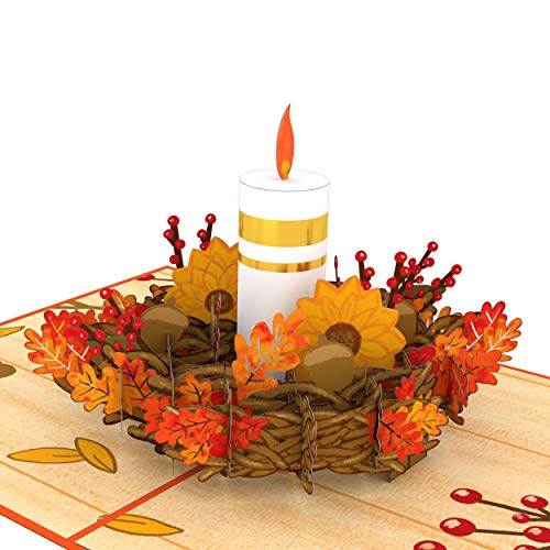 Lovepop Fall Candle Pop Up Card - 3D cards, Fall Pop Up card, Fall Greeting Card, Thanksgiving Pop Up Card, Fall Thank You Card, 3D Thanksgiving Cards