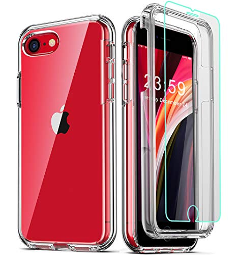 coolqo-compatible-for-iphone-se-2020-case-4-7-inch-with-2-x-tempered-glass-screen-protector-clear-360-full-body-coverage-hard-pcsoft-silicone-tpu-3in1-military-protective-shockproof-phone-cover
