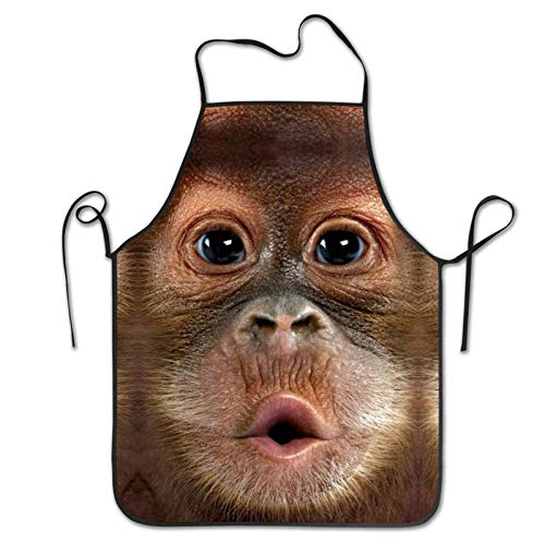 Funny Monkey Face Funny Aprons Waterproof Sexy Apron Kitchen Creative Cooking Apron Grilling Baking Party Gag Gift Aprons For Men And Women