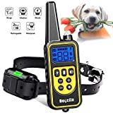Training Collar with Remote, IPX7 Waterproof Shock Collar Suitable for Any Size Dogs