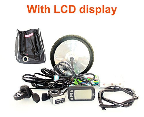 L-faster NADI Scooter 24V36V150W 8inch Scooter eléctrico brushless hub Motor Kit Puede con Pantalla LCD WUXING Acelerador DIY Ciudad Scooter eléctrico 7 XL (ND36V LCD)