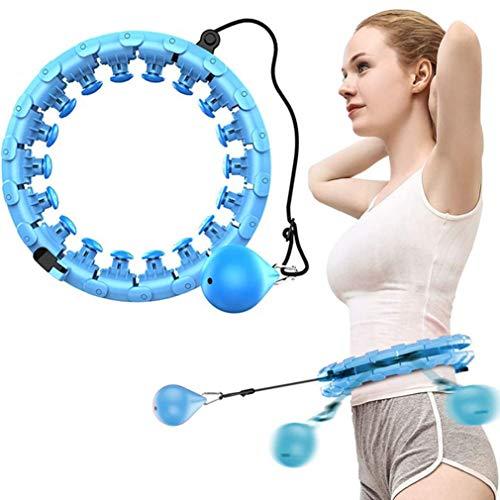 Lowest Prices! Smart Hula Hoop,Auto-Spinning Hula Hoop-Massage Slimming Hula Hoop, 27 Knots Adjustab...