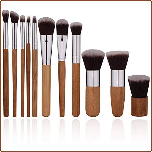 Pinceau de maquillage 11 Outils de maquillage Maquillage Kit de pinceaux de maquillage en bambou