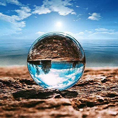 casCadey Kristallkugel Fotografie Kugel K9 Glaskugel Klar 150 mm, für Fotografie,Meditationen,Wahrsagung, Kristall Hochzeit/Home/Büro Dekoratio