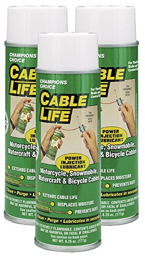 Protect All 25006-03 Cable Life Lubricant Aerosol, 6.25 fl. oz., 3 Pack