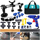 YOOHE Car Dent Puller - Auto Body Repair Tool Kit with Double Pole Bridge Dent Puller and Dent Puller Tabs for Car Dent Removal, Minor dents and Hail Damage