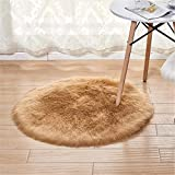 Furry Carpet Faux Sheepskin Carpet Bedroom Floor Carpet Living Room Children's Room Decoration Round Hair Living Room Carpet Floor Mat