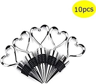 Lovelyou 11 Stainless Steel Love Design Heart Shape Wine and Beverage Bottle Stoppers (Set of 10)