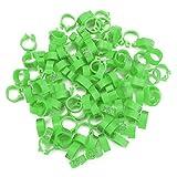 anelli per fasce per uccelli, 100 pezzi/sacchetto 8 mm plastica lettera piccione anelli per fasce per uccelli anelli 001-100 fasce per zampe numerate per pollame anello a clip durevole(verde)