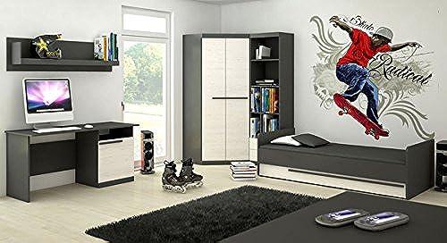 Unbekannt Dormitorio Juvenil Completo 5Piezas 6455Grafito gris Andersen Pino