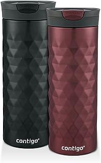 Contigo 2013276 Taza de ViajeKenton snapseal Insulated Bebidas, Spiced Wine & Black