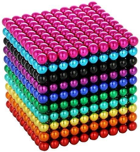 1000 Stück 5 mm Perlen Würfel Mehrfarben Gadget Spielzeug Seltene Erde Schreibtisch Spielzeug Spielzeug Stressabbau Spielzeug für Erwachsene