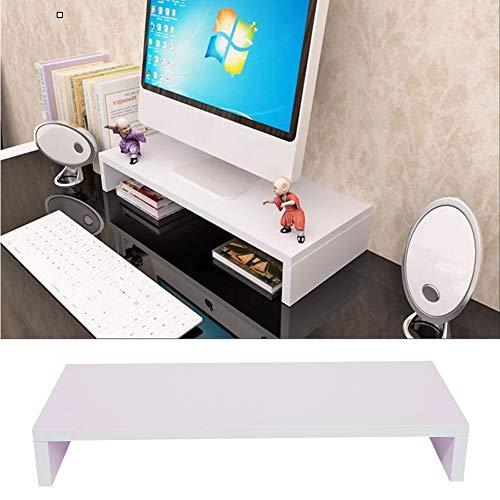 Bildschirmerhöhung Monitorerhöhung Monitor Erhöhung Ständer PC Holz 3 Farbe (Weiß)