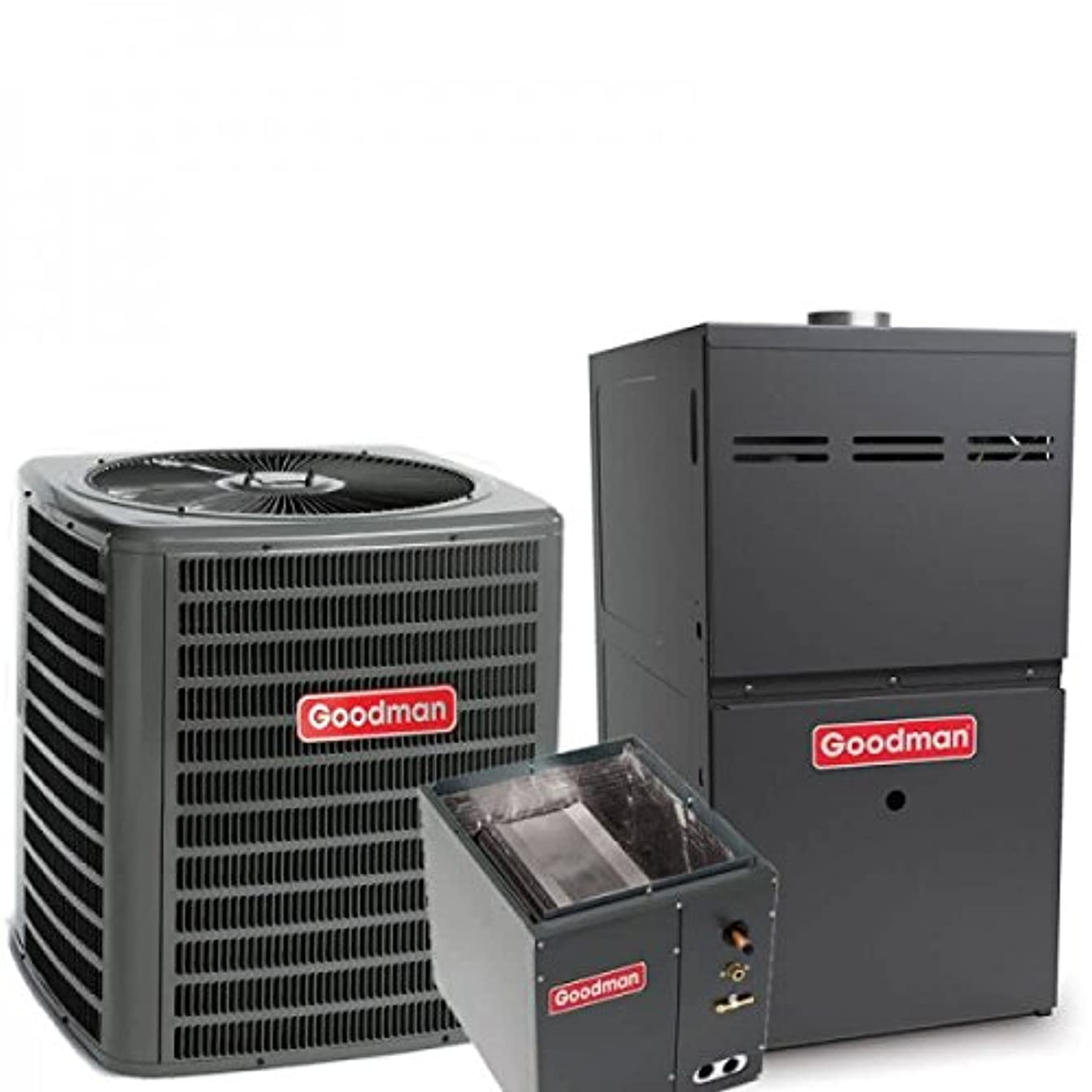 3 Ton Goodman 14 SEER R410A 80% AFUE 80,000 BTU Upflow Gas Furnace Split System (Yes, please add one to my order)