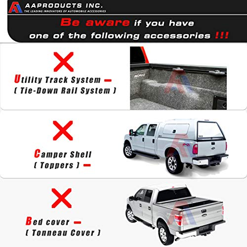 AA-Racks X31 Truck Rack with (8) Non-Drilling C-Clamps Pick-up Truck Utility Ladder Rack Matte Black