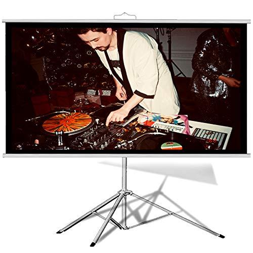 GELEI Home TV VíDeo Cinema Accesorios Proyectores Pantallas Enrollables Electricas Motorizadas EléCtricas Enrrollables Pantalla PortáTil Cine Sin-Arrugas Proyector PelíCulas Conveniente Puede Lleva