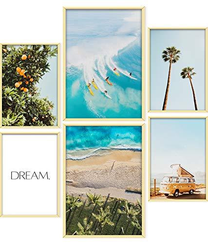 ARTORIA | Premium Poster Set - Weißer Sand | Ohne Rahmen | Moderne Bilder für Wohnung 4xA4 & 2xA3: Wohnzimmer & Schlafzimmer & Büro | Home Deko für Wände | Schöne Geschenke mit schönem Design