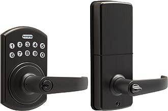 Signstek Keypad Entry Lever Door Lock with LED Backlit Keypad Password/Key Accessibles, Oil Rubbed Bronze
