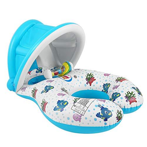 KIMCQ Sichere weiche aufblasbare Mutter-u. Baby-Schwimmen-Hin- und Herbewegungs-Ring-Kindersitz-Doppelt-Personen-Swimmingpool