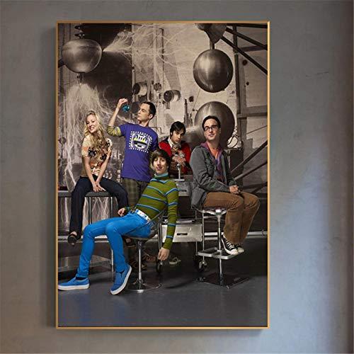 Größe: 40 * 60cm ohne Rahmen / Vintage Filmplakat Theorie Wandkunst Gemälde Leinwanddruckplakat Bilder für Wohnzimmer Wohnkultur Kinderzimmerdekoration