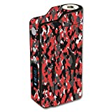Decal Sticker Skin WRAP Red & Black Urban Camo Custom for Sigelei 150W Temp Control